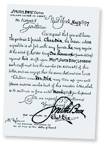 Letter of Credit from 1897